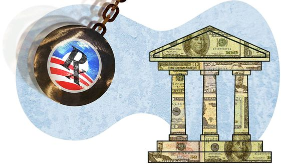 Obamacare Costs Breaking the Bank Illustration by Greg Groesch/The Washington Times
