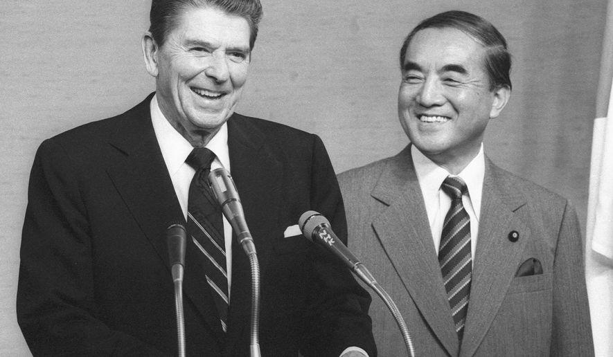 President Reagan and Prime Minister Nakasone
