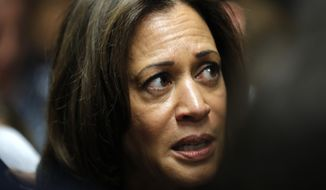 "Sen. Kamala D. Harris (pictured) and Rep. Nanette Diaz Barragan, both California Democrats, submitted official comments last week calling the proposal ""extreme federal overreach."" (Associated Press)"