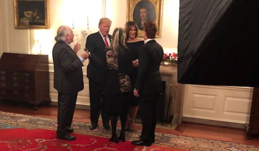 Talk radio icon Michael Savage visits with President Donald Trump and first lady Melania Trump at the White House for a Hanukkah celebration. (Photo courtesy of Michael Savage)