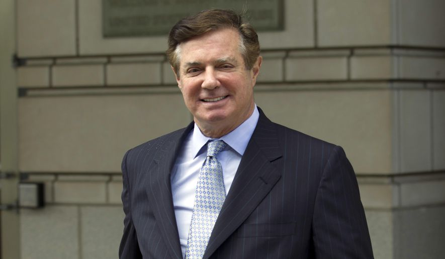In this May 23, 2018, file photo, Paul Manafort, President Donald Trump's former campaign chairman, leaves the Federal District Court after a hearing in Washington.  (AP Photo/Jose Luis Magana) ** FILE **