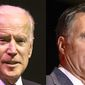 "One political adviser suggests former Vice President Joseph R. Biden and former Massachusetts Gov. Mitt Romney run on a ""unity"" ticket. (Associated Press photographs)"