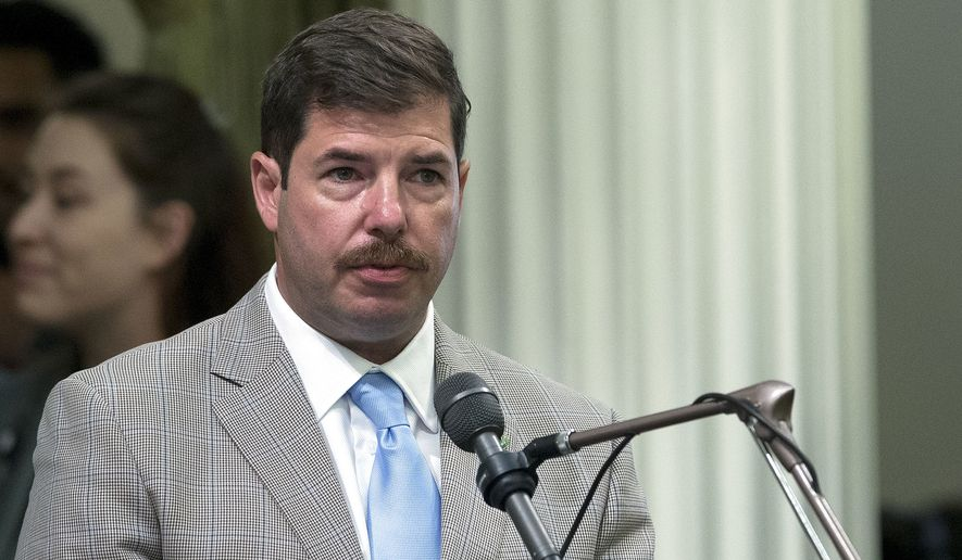 In this Aug. 15, 2016 photo, Assemblyman Joaquin Arambula, D-Kingsburg, speaks at the Capitol, Monday, in Sacramento, Calif. (AP Photo/Rich Pedroncelli)