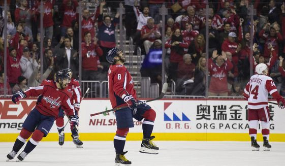 356c4ff24ae Ovi s 21st hat trick helps Caps to 6-2 rout of Red Wings - Washington Times