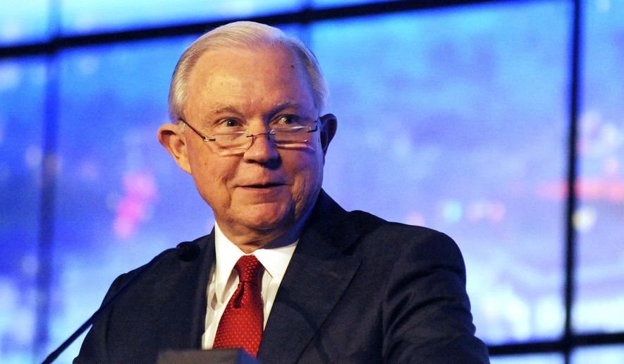 Former U.S. Attorney General Jeff Sessions addresses a business group in Montgomery, Ala., on Tuesday, Dec. 11, 2018. Sessions praised what he called the policy achievements of President Donald Trump but said he doesn't follow tweets as much as he once did. (AP Photo/Jay Reeves) ** FILE **