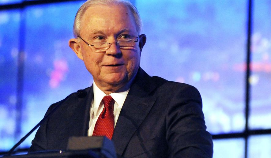 Former U.S. Attorney General Jeff Sessions addresses a business group in Montgomery, Ala., on Tuesday, Dec. 11, 2018. Sessions praised what he called the policy achievements of President Donald Trump but said he doesn't follow tweets as much as he once did. (AP Photo/Jay Reeves)