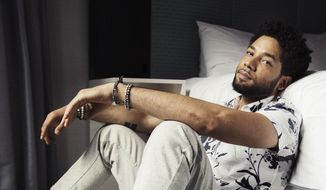 """In this March 6, 2018 file photo, actor-singer Jussie Smollett, from the Fox series, """"Empire,"""" poses for a portrait in New York. (Photo by Victoria Will/Invision/AP, File)"""