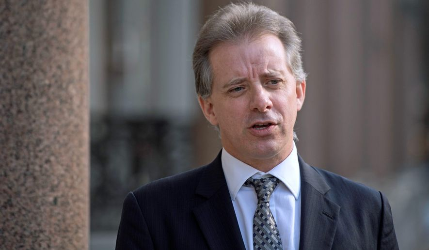 Christopher Steele, former British intelligence officer, said the law firm Perkin Coie wanted to be in a position to contest the 2016 election results. (Associated Press) ** FILE **