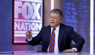 "In this file photo, Fox News senior judicial analyst Andrew Napolitano hosts the inaugural broadcast of ""Liberty File"" on the new streaming service Fox Nation, in New York, Tuesday, Nov. 27, 2018. (AP Photo/Richard Drew) **FILE**"