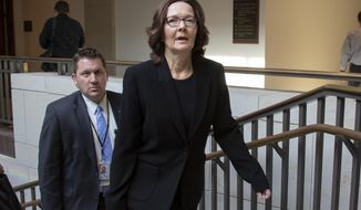 CIA Director Gina Haspel leaves the Capitol after giving a classified briefing to the House leadership about the murder of journalist Jamal Khashoggi and the involvement by the Saudi crown prince Mohammed bin Salman, on Capitol Hill in Washington, Wednesday, Dec. 12, 2018. T (AP Photo/J. Scott Applewhite)