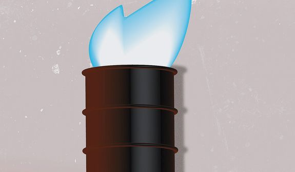 Illustration on U.S. energy production by Linas Garsys/The Washington Times
