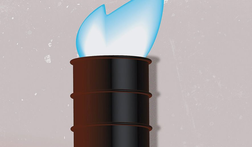 Illustration on U.S. energy production by Linas Garsys/The Washington Times