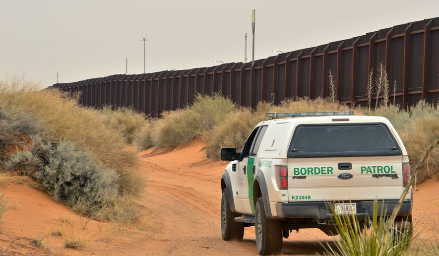 U.S. Customs and Border Protections told Congress that 3,029 people were apprehended at the southern border in one day this month. (Associated Press photograph)
