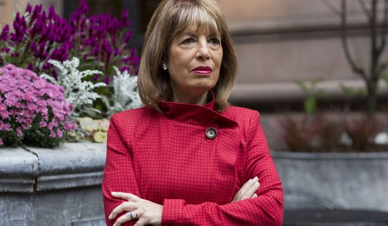 Rep. Jackie Speier, California Democrat, said the sexual harassment bill provides legal representation for employees in the House, but not the Senate. (Associated Press photograph)