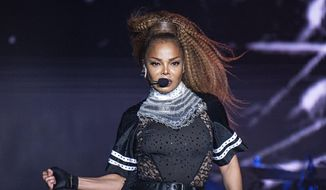 In this July 8, 2018, file photo, Janet Jackson performs at the 2018 Essence Festival in New Orleans. Jackson will join Def Leppard, Stevie Nicks, Radiohead, the Cure, Roxy Music and the Zombies as new members of the Rock and Roll Hall of Fame. The 34th induction ceremony will take place on March 29 at Barclays Center in New York.  (Photo by Amy Harris/Invision/AP)