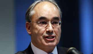 Rep. Bruce Poliquin, R-Maine, speaks at a news conference in Augusta, Maine. Poliquin, who has disputed his loss in the first ranked-choice congressional race in U.S. history is dropping his request for a recount. Poliquin challenged the system in federal court, and a judge ruled against him on Thursday, Dec. 13, 2018. He also requested the recount, which has been taking place in Augusta. (AP Photo/Robert F. Bukaty, files)