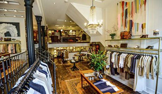 Billy Reid, which has a store in the District of Columbia's tony Georgetown neighborhood, is among American clothing brands that are worried about retaliatory tariffs from the Trump administration's trade war with China. (Photo by Billy Reid)