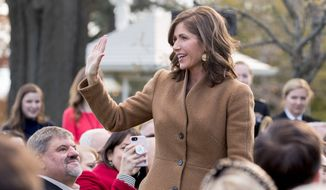 South Dakota Gov.-elect Kristi Noem did briefly return last week to vote in Congress after missing all of the action in November and early December. (Associated Press)