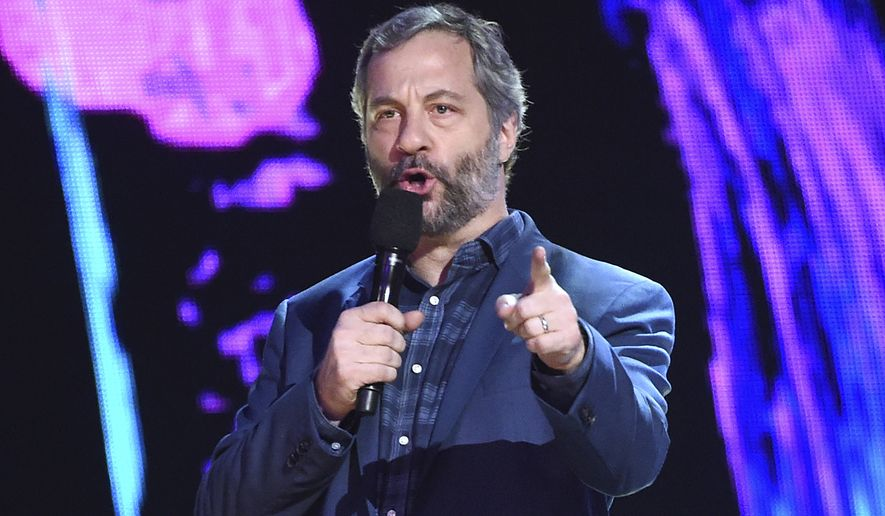 In this Sunday, Aug. 13, 2017, file photo, Judd Apatow presents the decade award at the Teen Choice Awards at the Galen Center in Los Angeles. Apatow is among the stars weighing in on the firing of movie mogul Harvey Weinstein from the company he co-founded. The move came after decades of sex harassment allegations against the producer were revealed in a New York Times report. (Photo by Phil McCarten/Invision/AP, File)