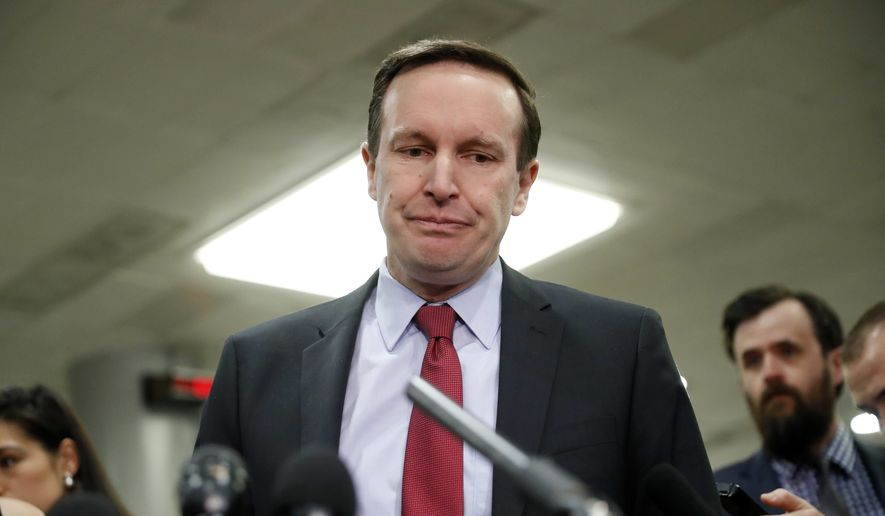 """Congress doesn't have to wait for the president to fulfill his duty,"" Sen. Chris Murphy, Connecticut Democrat, said Sunday. ""We can just make a determination ourselves that [Saudi Crown Prince] Mohammad bin Salman ordered these murders and there should be some kind of penalty and repercussions for that."" (Associated Press)"