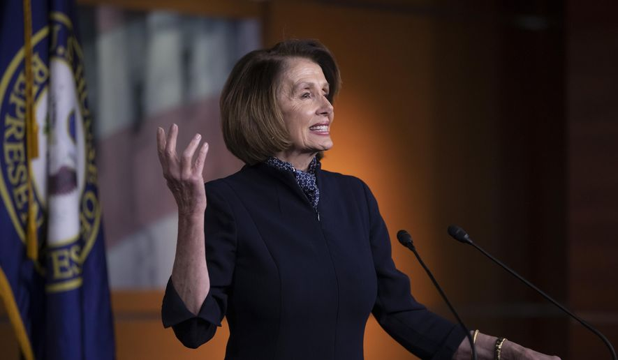 In this Dec. 13, 2018, photo, House Democratic leader Nancy Pelosi of California holds a news conference at the Capitol in Washington. By dividing and conquering Democratic insurgents, Nancy Pelosi has shown she has the savvy she'll need when she becomes House speaker next month, which seems certain. (AP Photo/J. Scott Applewhite)