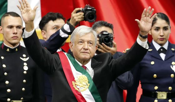 "Newly inaugurated President Andres Manuel Lopez Obrador waxed poetic about the plan to provide jobs so people won't have to emigrate. ""I have a dream that I want to see become a reality ... that nobody will want to go work in the United States anymore,"" he said. (Associated Press)"
