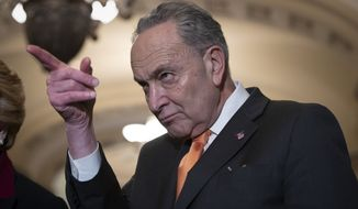 """Let me be clear. The Republican offer today would not pass either chamber,"" said Senate Minority Leader Charles E. Schumer, New York Democrat. (Associated Press)"