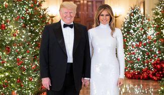 White House Christmas portrait by Andrea Hanks.