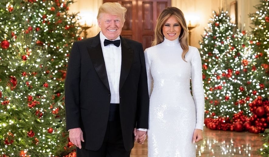 White House Christmas portrait by Andrea Hanks.