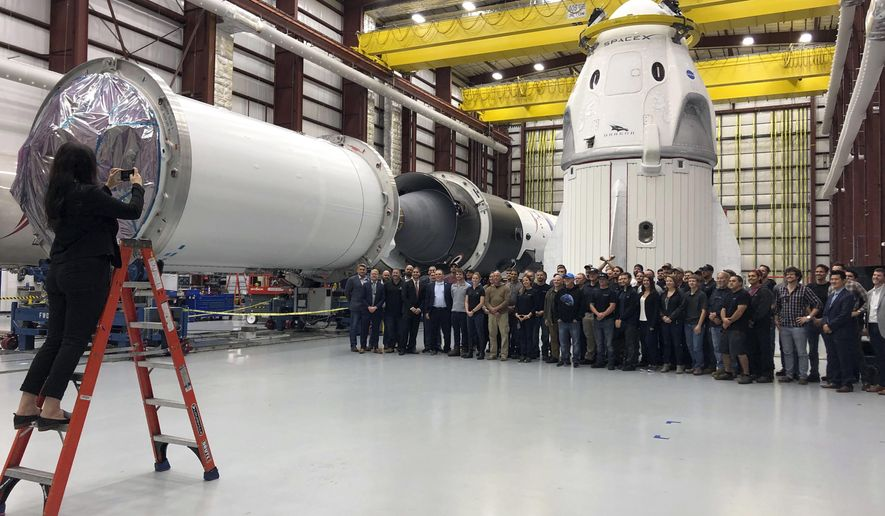 Pence misses launch but treated to new SpaceX crew capsule