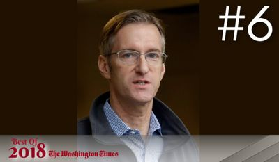BEST OF 2018 - In this Jan. 17, 2017, file photo, Portland Mayor Ted Wheeler speaks during a press conference in Portland, Ore.  Wheeler is condemning the actions of some protesters after a May Day march took a violent turn in Portland Monday, May 1, 2017.  (AP Photo/Don Ryan)