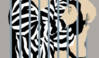 Illustration on prison reform by Nancy Ohanian/Tribune Content Agency