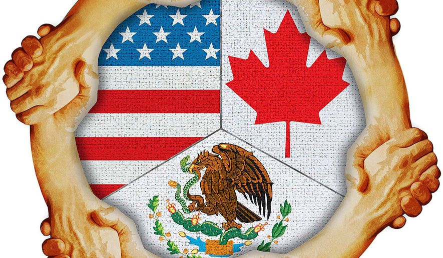 Support for the USMCA Agreement Illustration by Greg Groesch/The Washington Times