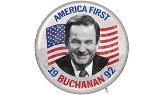 Buchanan 1992 Campaign Button Illustration by Greg Groesch/The Washington Times