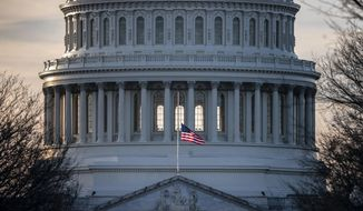 The U.S. Capitol is seen as Congress and President Donald Trump move closer to a deadline to fund parts of the government, in Washington, Wednesday, Dec. 19, 2018. (AP Photo/J. Scott Applewhite)