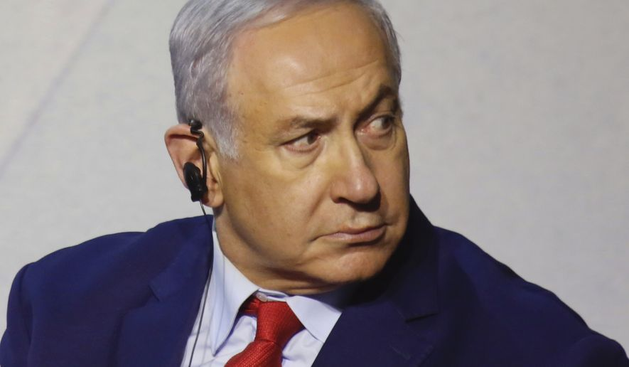 """""""We will continue to act very aggressively against Iran's efforts to entrench in Syria,"""" Israeli Prime Minister Benjamin Netanyahu said Thursday. (Associated Press)"""