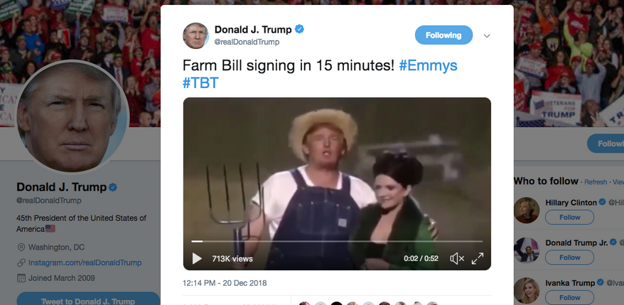 President Trump tweets his 'Green Acres' skit at the 2005 Emmy's.