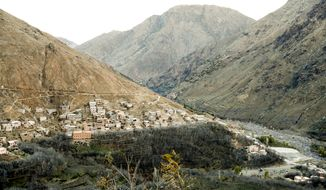 The remote village of Imlil nestled on the slopes of the Atlas mountains in Morocco, Thursday Dec. 20, 2018, about 10 Km (six miles) from the spot where the bodies of two Scandinavian women were found. The victims found Monday Dec. 17, are confirmed as Maren Ueland from Norway and Louisa Vesterager Jespersen from Denmark, and four suspects have been detained in connection with the deaths. (Terje Bendiksby / NTB scanpix via AP)