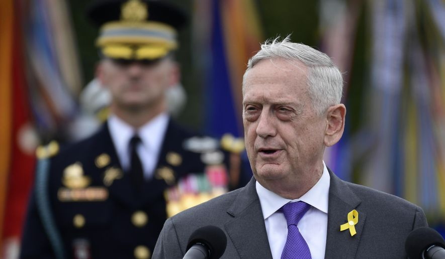 Defense Secretary Jim Mattis speaks during the 2018 POW/MIA National Recognition Day Ceremony at the Pentagon in Washington. President Donald Trump says Mattis will be retiring at the end of February 2019 and that a new secretary will be named shortly.  (AP Photo/Susan Walsh, file)