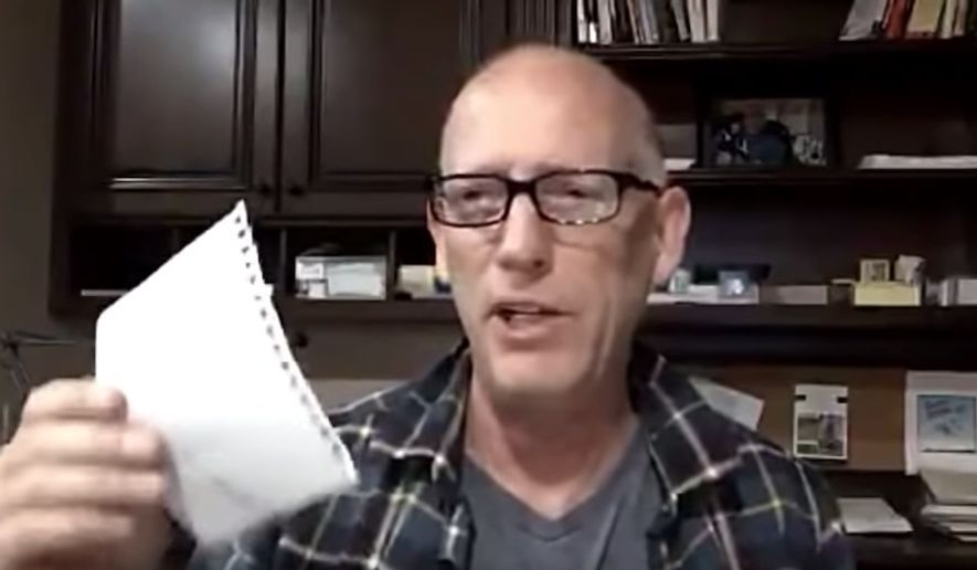 Author, cartoonist and political commentator Scott Adams discusses President Trump, Dec. 21, 2018. (Image: Twitter, Scott Adams video screenshot) ** FILE **
