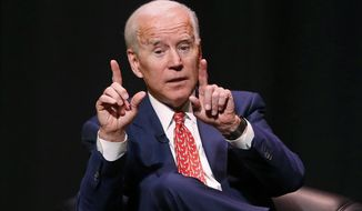 In this Dec. 13, 2018, file photo, former Vice President Joe Biden speaks at the University of Utah Thursday Dec. 13, 2018, in Salt Lake City. (AP Photo/Rick Bowmer, file)