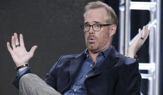 """FILE - In this Thursday, Jan. 5, 2017 file photo, Joe Buck speaks during the """"Undeniable with Joe Buck and Fear(less) with Tim Ferriss"""" panel at the Direct TV portion of the 2017 Winter Television Critics Association press tour in Pasadena, Calif. Thursday night football is here to stay, even if it's gone for the rest of 2018.  In past years, some make that many would have said """"good riddance."""" That would be misguided this year. First off, Fox's presentation generally was strong and on target. (Photo by Richard Shotwell/Invision/AP)"""