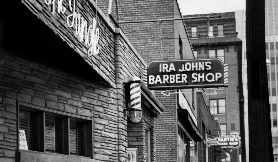 This Oct. 12, 1954, photo shows The Jungle, one of Commerce Street's better-known bars, in Nashville, Tenn. On Friday, Dec. 21, 2018, the Metro Historical Commission is unveiling a plaque recognizing it and Juanita's as Nashville's first gay bars. (Jimmy Holt/The Tennessean via AP)
