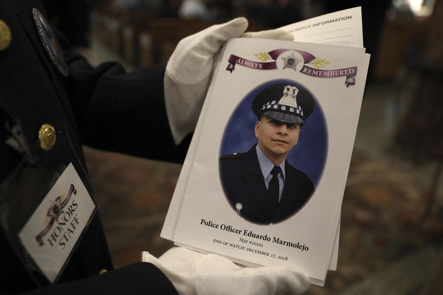 Officers Prepare For The Funeral For Fallen Chicago Police