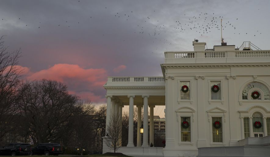 According to indications, the sun will set on the White House many times before President Trump and Senate Minority Leader Charles E. Schumer reach an agreement on funding for a border fence. (Associated Press/File)
