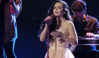 "This Monday, Dec. 17, 2018 photo provided by NBC shows ""The Voice"" finalist, Chevel Shepherd, for season 15 in Universal City, Calif. Shepherd, who is 16, was declared the winner of ""The Voice"" on Tuesday after weeks of competition. (Trae Patton/NBC via AP)"
