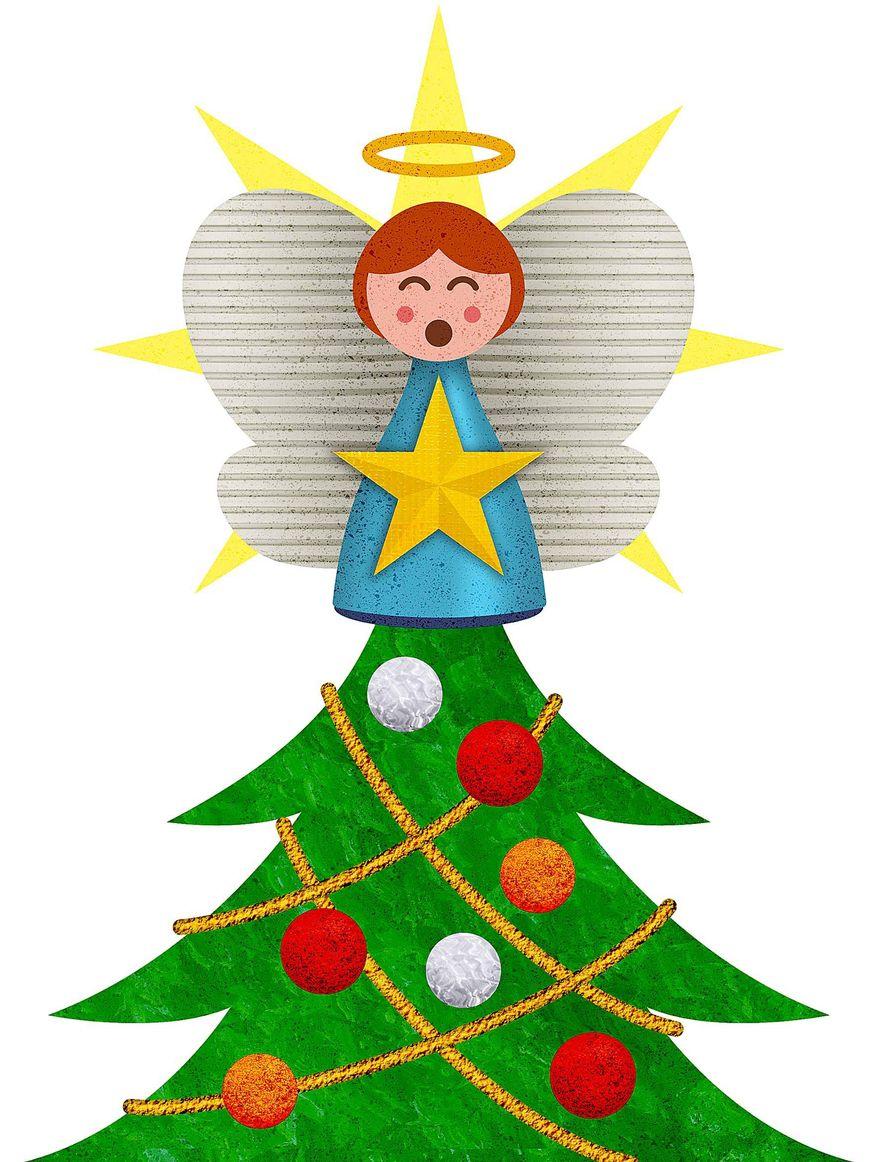 Tree Angel Illustration by Greg Groesch/The Washington Times