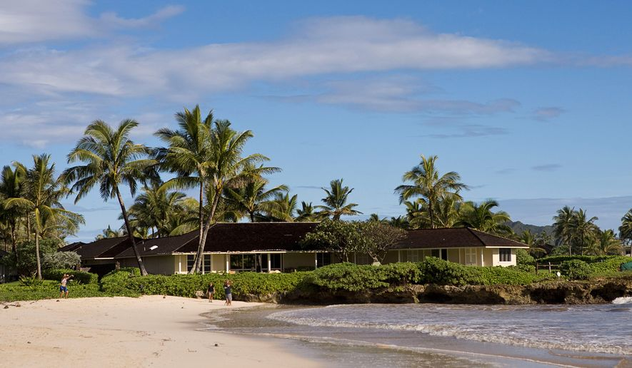 Christmas past: A photo taken Dec. 14, 2008, shows the vacation home where President Obama stayed during his holiday in Hawaii. (Associated Press)
