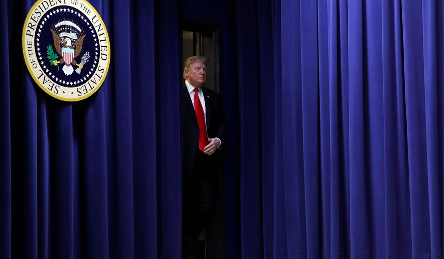 """""""It's ridiculous. It's ridiculous. And it has to end,"""" President Trump said in late October regarding birthright citizenship in the U.S. (Associated Press)"""