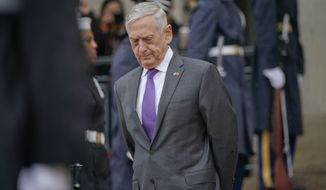 In this Nov. 9, 2018, file photo, Defense Secretary Jim Mattis waits outside the Pentagon. President Donald Trump says Mattis will be retiring at the end of February 2019 and that a new secretary will be named shortly. (AP Photo/Pablo Martinez Monsivais, File)
